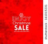 enjoy christmas sale card on... | Shutterstock .eps vector #161015231