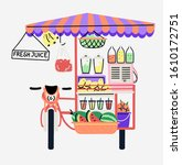 street food festival motorbike... | Shutterstock .eps vector #1610172751