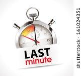 last minute concept   stopwatch  | Shutterstock .eps vector #161024351