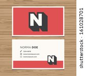 business card with alphabet... | Shutterstock .eps vector #161028701