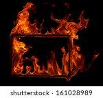 burning frame  | Shutterstock . vector #161028989