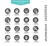seo icons application version 2 ...   Shutterstock .eps vector #161029241