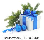 Christmas Gift Box With Blue...
