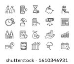 large set of line drawing icons ... | Shutterstock .eps vector #1610346931