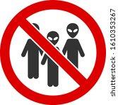 no aliens vector icon. flat no... | Shutterstock .eps vector #1610353267