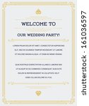 gatsby style invitation in art... | Shutterstock .eps vector #161036597