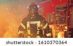 Portrait Of Firefighter In Fire ...