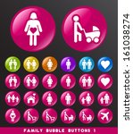 family bubble buttons 1. | Shutterstock .eps vector #161038274