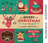 vector collection of vintage... | Shutterstock .eps vector #161039465