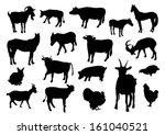 farm animals   Shutterstock .eps vector #161040521