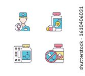 gynecology color icons set.... | Shutterstock .eps vector #1610406031
