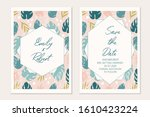 wedding invitation template...   Shutterstock .eps vector #1610423224