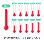 fundraiser and charity goal... | Shutterstock .eps vector #1610427271