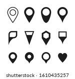 location icon set. set of map...   Shutterstock .eps vector #1610435257