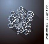 abstract paper vector cogs ... | Shutterstock .eps vector #161045444