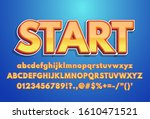 start   text effect with modern ... | Shutterstock .eps vector #1610471521