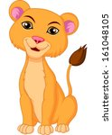 Lioness cartoon - stock vector