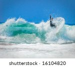 surfer on an amazing wave on a... | Shutterstock . vector #16104820