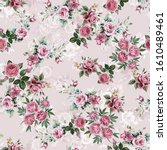 colorful flowers background... | Shutterstock . vector #1610489461