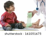 doctor and his little patient ... | Shutterstock . vector #161051675
