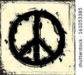 peace symbol | Shutterstock .eps vector #161053385