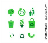 recycle and some packaging sign | Shutterstock .eps vector #1610535694