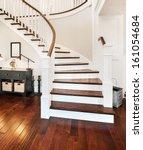 elegant stairway in new home | Shutterstock . vector #161054684
