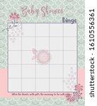 baby shower bingo layout... | Shutterstock .eps vector #1610556361