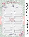 baby shower alphabet layout... | Shutterstock .eps vector #1610556847