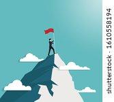 leadership concept. businessman ...   Shutterstock .eps vector #1610558194