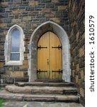 Antique Church Door And Window
