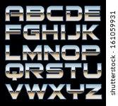 vector metal font | Shutterstock .eps vector #161059931