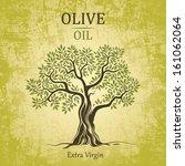 Stock vector olive tree on vintage paper olive oil vector olive tree for labels pack 161062064