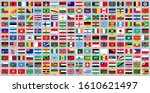 all world countries national... | Shutterstock .eps vector #1610621497