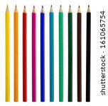 Colored Pencils Isolated Over...