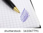 notebook and pen on a white... | Shutterstock . vector #161067791