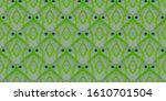 Green Wavy Repeat Batik....