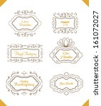 a set of four typographic... | Shutterstock .eps vector #161072027
