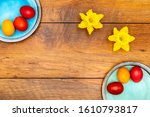 Six Colourful Easter Eggs On...