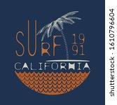t shirt with surf theme. summer ...   Shutterstock . vector #1610796604