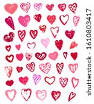 valentine's day hearts icons...