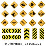 road signs  traffic signs ... | Shutterstock .eps vector #161081321
