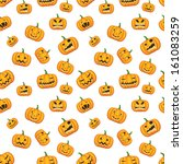 seamless halloween background... | Shutterstock . vector #161083259