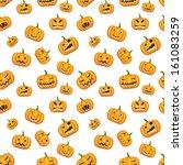 seamless halloween background... | Shutterstock . vector #161083259