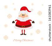 santa claus postcard raster... | Shutterstock . vector #161083961