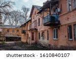 Old Poor Slum Houses In...