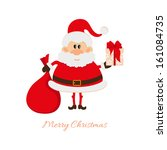 santa claus with a bag of gifts ... | Shutterstock . vector #161084735