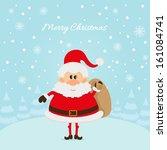 santa claus the christmas card... | Shutterstock . vector #161084741