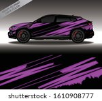 car wrap decal design vector ... | Shutterstock .eps vector #1610908777