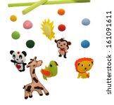 baby mobile | Shutterstock . vector #161091611